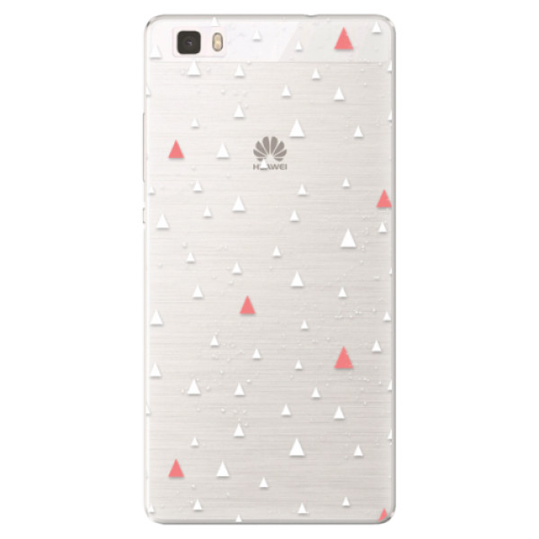 Silikónové puzdro iSaprio - Abstract Triangles 02 - white - Huawei Ascend P8 Lite