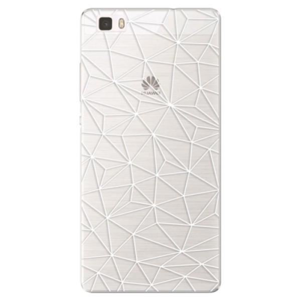 Silikónové puzdro iSaprio - Abstract Triangles 03 - white - Huawei Ascend P8 Lite
