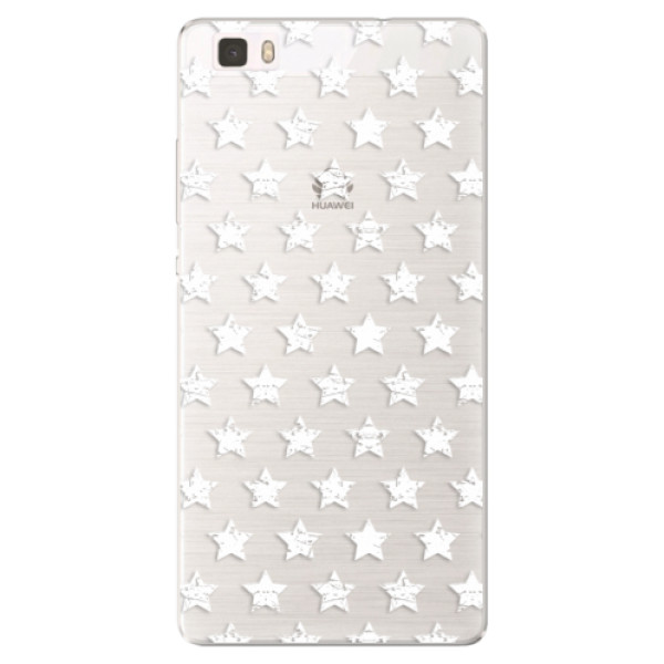 Silikónové puzdro iSaprio - Stars Pattern - white - Huawei Ascend P8 Lite