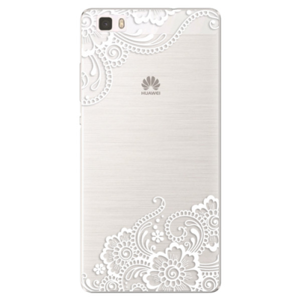 Silikónové puzdro iSaprio - White Lace 02 - Huawei Ascend P8 Lite
