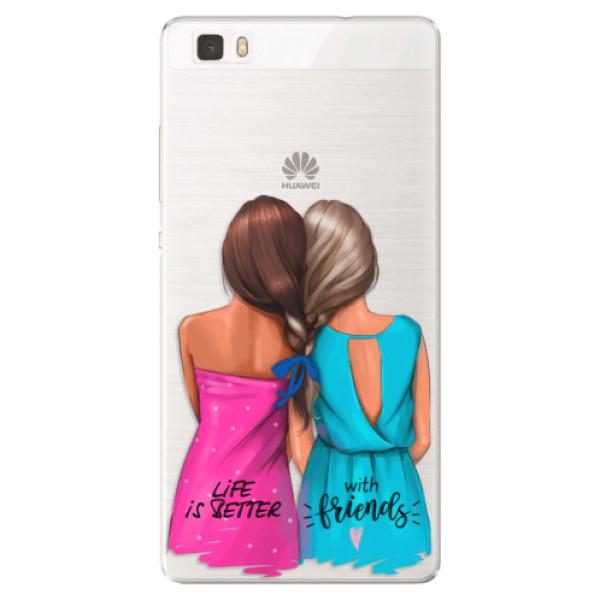 Silikónové puzdro iSaprio - Best Friends - Huawei Ascend P8 Lite