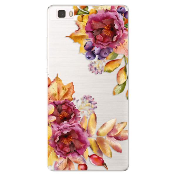 Silikónové puzdro iSaprio - Fall Flowers - Huawei Ascend P8 Lite
