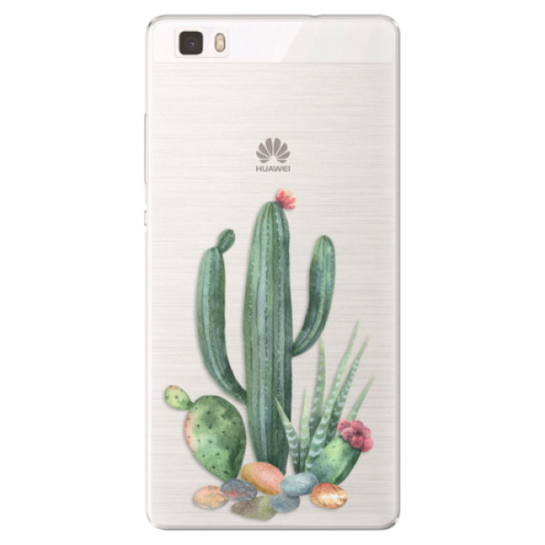 Silikónové puzdro iSaprio - Cacti 02 - Huawei Ascend P8 Lite