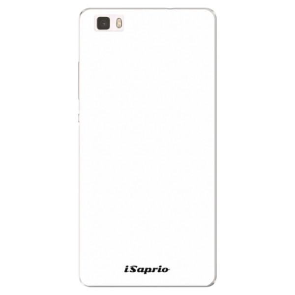 Silikónové puzdro iSaprio - 4Pure - bílý - Huawei Ascend P8 Lite
