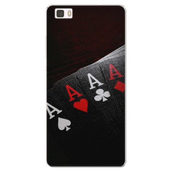 Silikónové puzdro iSaprio - Poker - Huawei Ascend P8 Lite