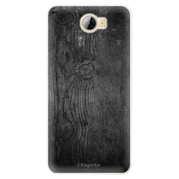 Silikónové puzdro iSaprio - Black Wood 13 - Huawei Y5 II / Y6 II Compact