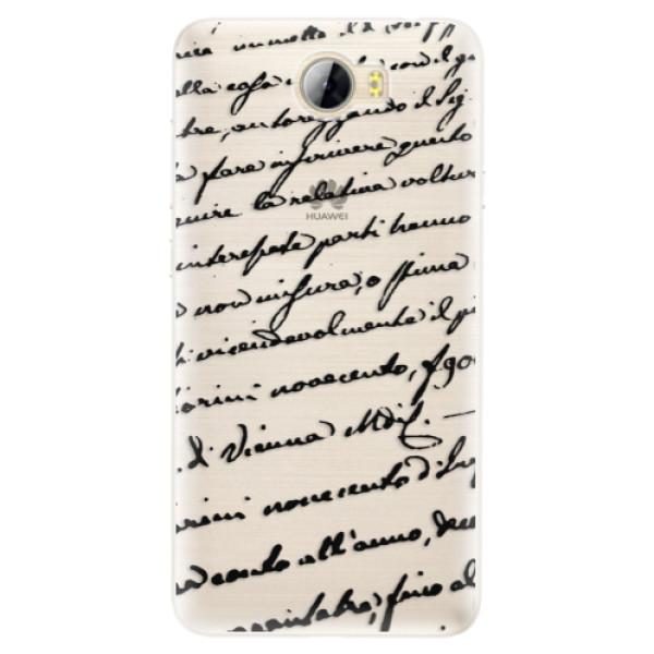 Silikónové puzdro iSaprio - Handwriting 01 - black - Huawei Y5 II / Y6 II Compact