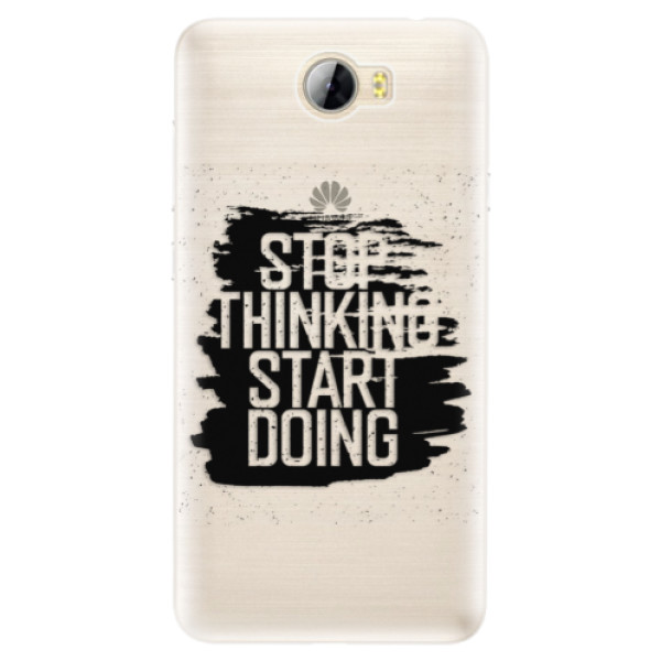 Silikónové puzdro iSaprio - Start Doing - black - Huawei Y5 II / Y6 II Compact