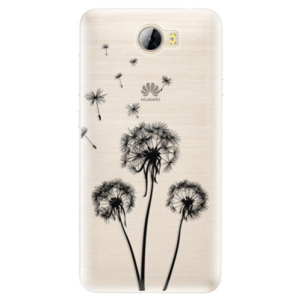 Silikónové puzdro iSaprio - Three Dandelions - black - Huawei Y5 II / Y6 II Compact