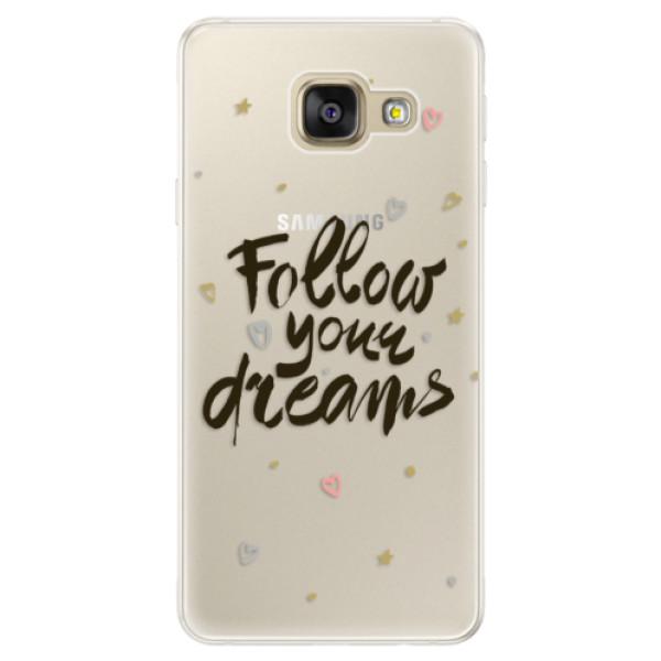 Silikónové puzdro iSaprio - Follow Your Dreams - black - Samsung Galaxy A5 2016