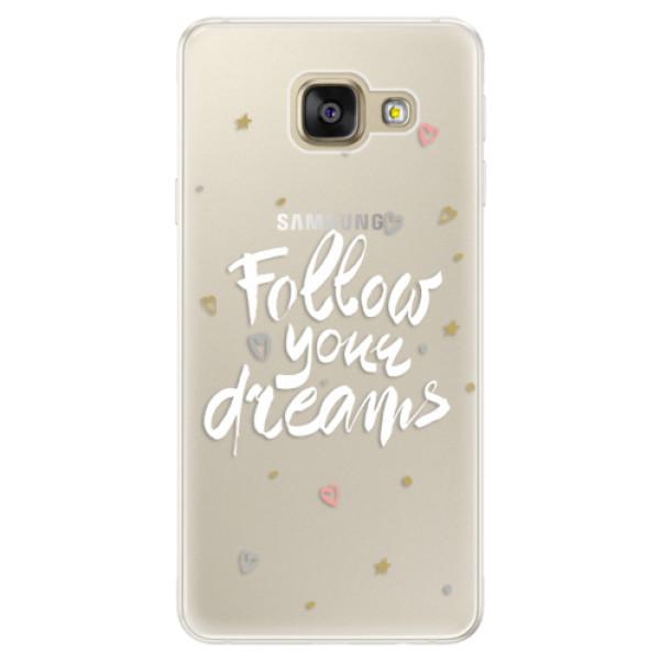 Silikónové puzdro iSaprio - Follow Your Dreams - white - Samsung Galaxy A5 2016