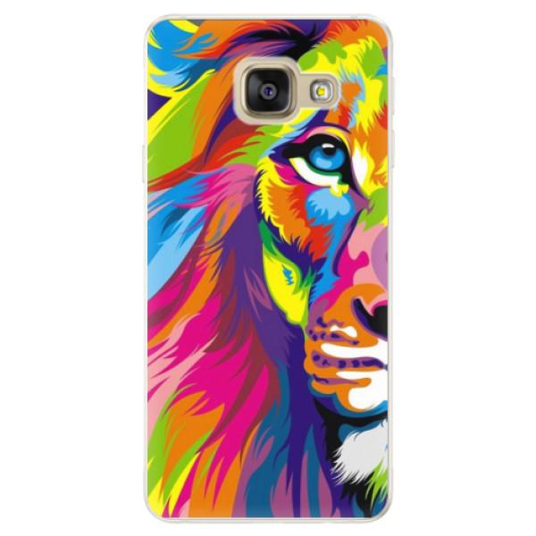 Silikónové puzdro iSaprio - Rainbow Lion - Samsung Galaxy A5 2016