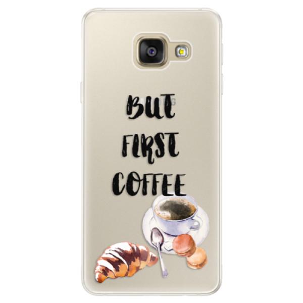 Silikónové puzdro iSaprio - First Coffee - Samsung Galaxy A5 2016