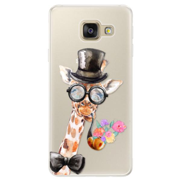 Silikónové puzdro iSaprio - Sir Giraffe - Samsung Galaxy A5 2016
