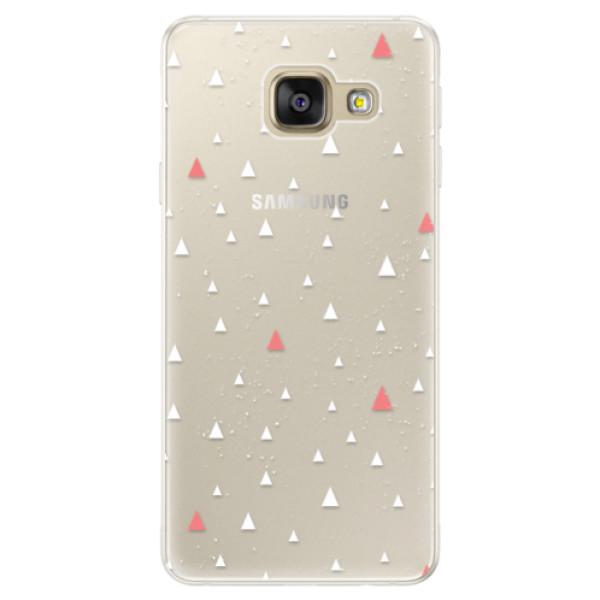 Silikónové puzdro iSaprio - Abstract Triangles 02 - white - Samsung Galaxy A5 2016