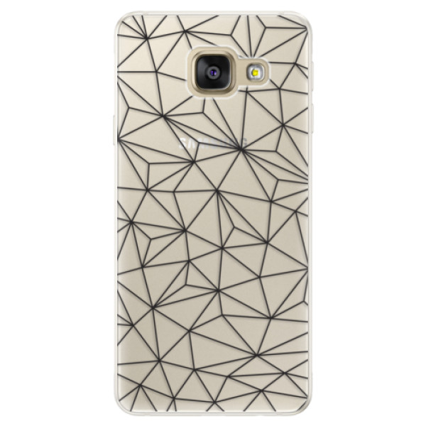 Silikónové puzdro iSaprio - Abstract Triangles 03 - black - Samsung Galaxy A5 2016