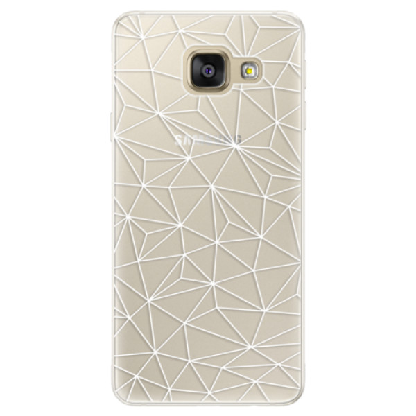 Silikónové puzdro iSaprio - Abstract Triangles 03 - white - Samsung Galaxy A5 2016