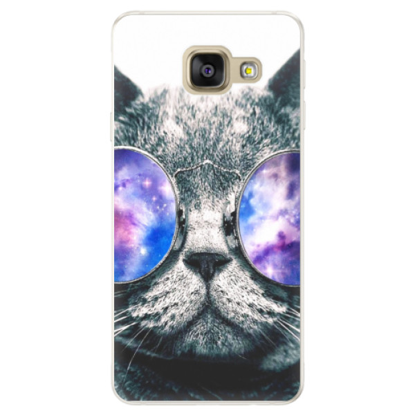 Silikónové puzdro iSaprio - Galaxy Cat - Samsung Galaxy A5 2016