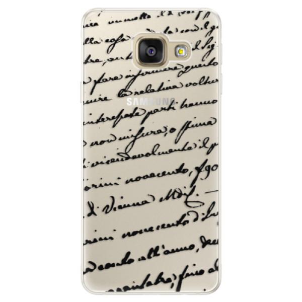 Silikónové puzdro iSaprio - Handwriting 01 - black - Samsung Galaxy A5 2016