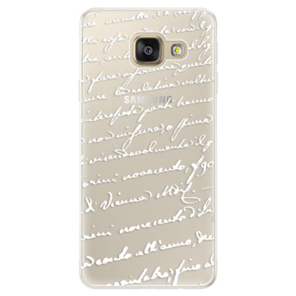 Silikónové puzdro iSaprio - Handwriting 01 - white - Samsung Galaxy A5 2016