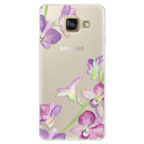Silikónové puzdro iSaprio - Purple Orchid - Samsung Galaxy A5 2016