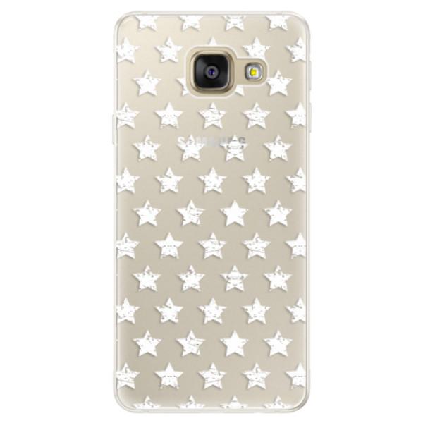 Silikónové puzdro iSaprio - Stars Pattern - white - Samsung Galaxy A5 2016