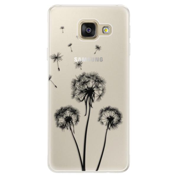 Silikónové puzdro iSaprio - Three Dandelions - black - Samsung Galaxy A5 2016