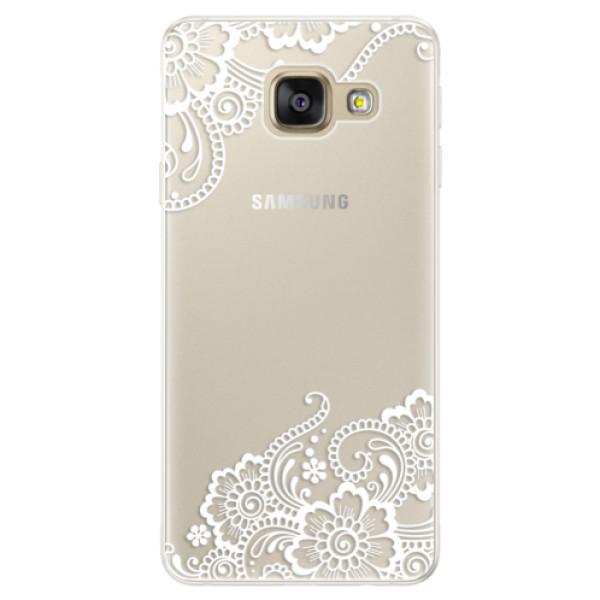 Silikónové puzdro iSaprio - White Lace 02 - Samsung Galaxy A5 2016