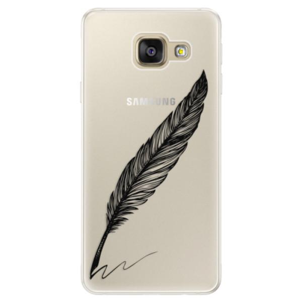 Silikónové puzdro iSaprio - Writing By Feather - black - Samsung Galaxy A5 2016