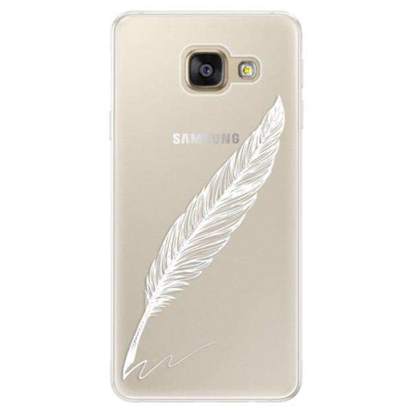 Silikónové puzdro iSaprio - Writing By Feather - white - Samsung Galaxy A5 2016