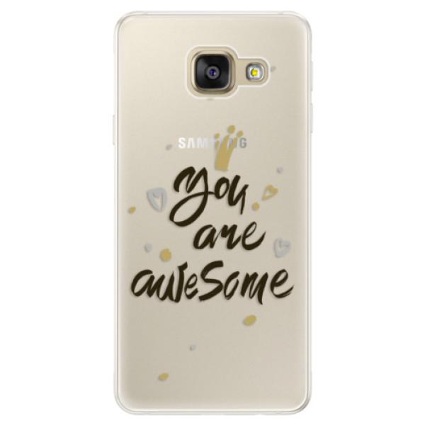Silikónové puzdro iSaprio - You Are Awesome - black - Samsung Galaxy A5 2016