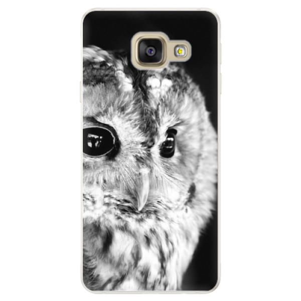 Silikónové puzdro iSaprio - BW Owl - Samsung Galaxy A5 2016