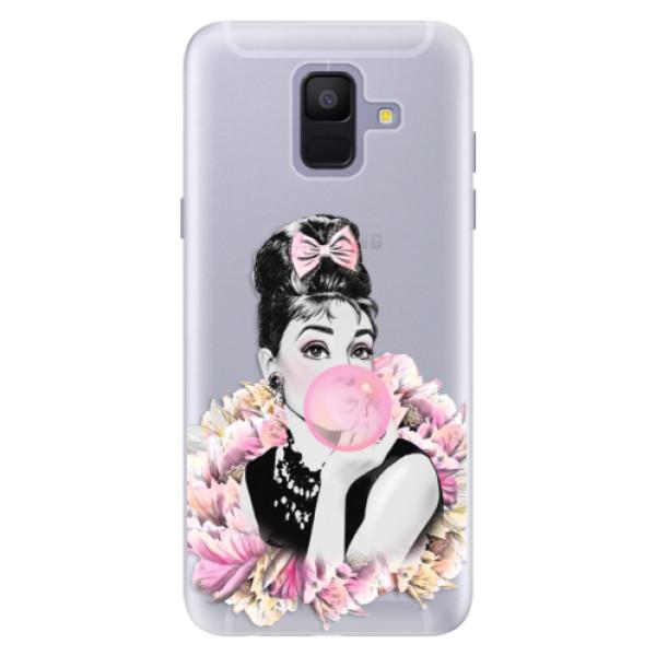 Silikónové puzdro iSaprio - Pink Bubble - Samsung Galaxy A6