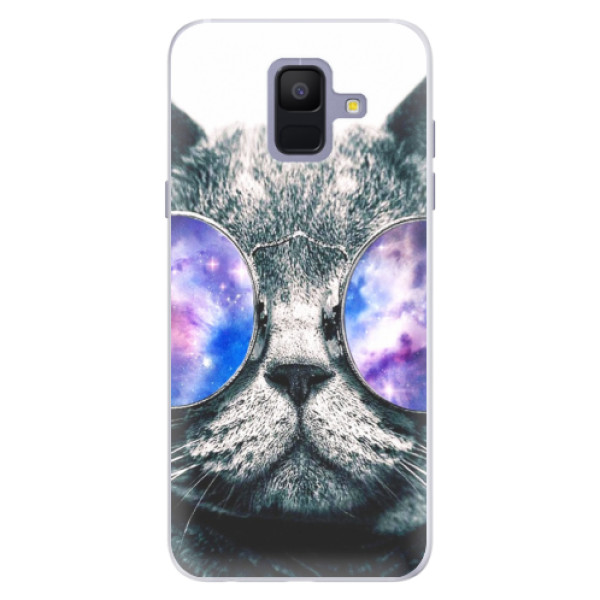 Silikónové puzdro iSaprio - Galaxy Cat - Samsung Galaxy A6