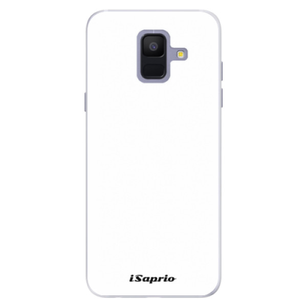Silikónové puzdro iSaprio - 4Pure - bílý - Samsung Galaxy A6