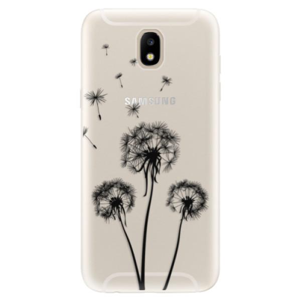 Silikónové puzdro iSaprio - Three Dandelions - black - Samsung Galaxy J5 2017