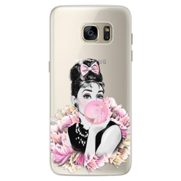 Silikónové puzdro iSaprio - Pink Bubble - Samsung Galaxy S7