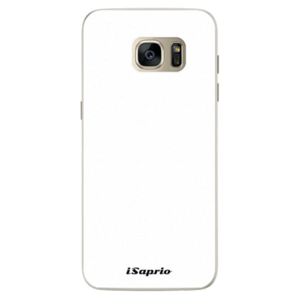 Silikónové puzdro iSaprio - 4Pure - bílý - Samsung Galaxy S7