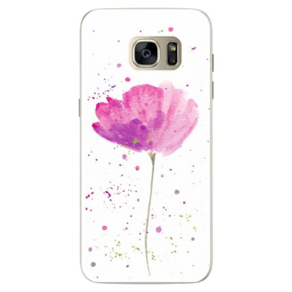 Silikónové puzdro iSaprio - Poppies - Samsung Galaxy S7 Edge