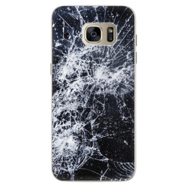 Silikónové puzdro iSaprio - Cracked - Samsung Galaxy S7 Edge