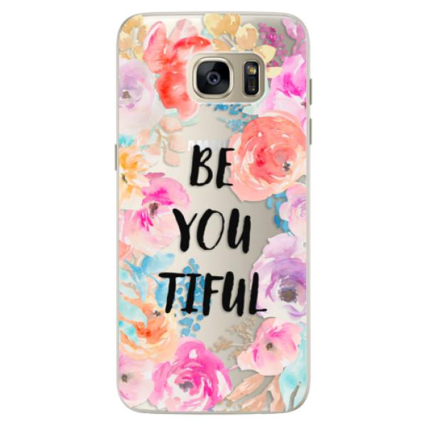 Silikónové puzdro iSaprio - BeYouTiful - Samsung Galaxy S7 Edge