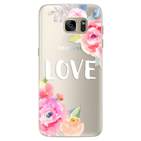 Silikónové puzdro iSaprio - Love - Samsung Galaxy S7 Edge