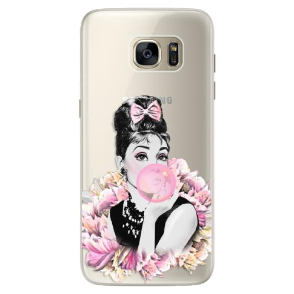 Silikónové puzdro iSaprio - Pink Bubble - Samsung Galaxy S7 Edge