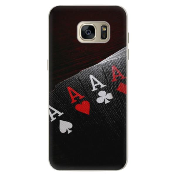 Silikónové puzdro iSaprio - Poker - Samsung Galaxy S7 Edge