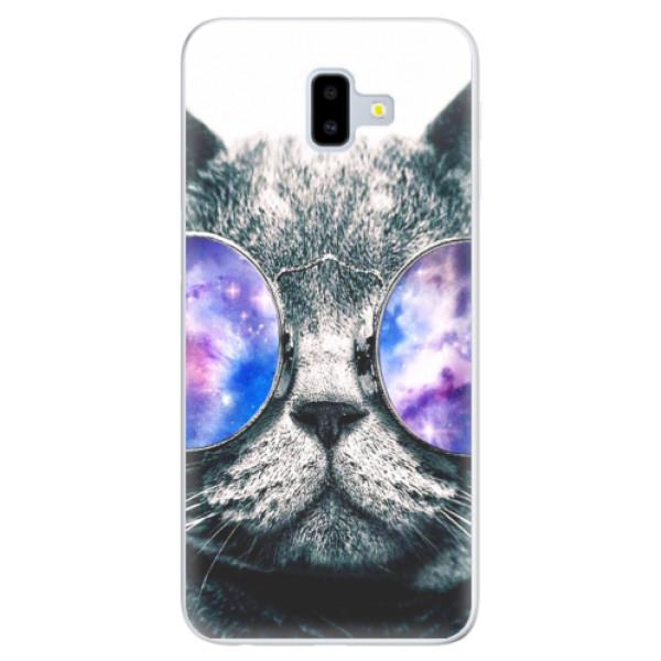 Silikónové puzdro iSaprio - Galaxy Cat - Samsung Galaxy J6+