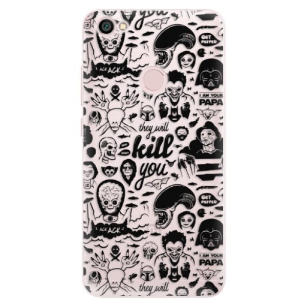 Silikónové puzdro iSaprio - Comics 01 - black - Xiaomi Redmi Note 5A / 5A Prime