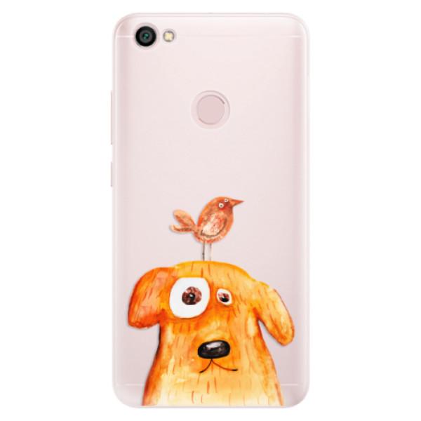 Silikónové puzdro iSaprio - Dog And Bird - Xiaomi Redmi Note 5A / 5A Prime
