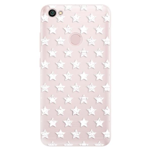 Silikónové puzdro iSaprio - Stars Pattern - white - Xiaomi Redmi Note 5A / 5A Prime