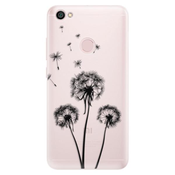 Silikónové puzdro iSaprio - Three Dandelions - black - Xiaomi Redmi Note 5A / 5A Prime