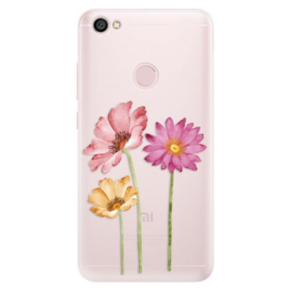 Silikónové puzdro iSaprio - Three Flowers - Xiaomi Redmi Note 5A / 5A Prime